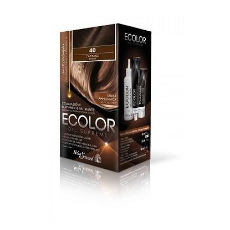 Набор для окрашивания в домашних условиях Ecolor Oil Supreme Helen Seward 40 Каштановый Объем 160 мл (ecolor-40)