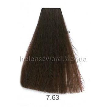 Крем-краска для волос Lumia Helen Seward Объем 100 мл 7.63 Золотисто-махагоновый средний блондин (Lumia 7.63)