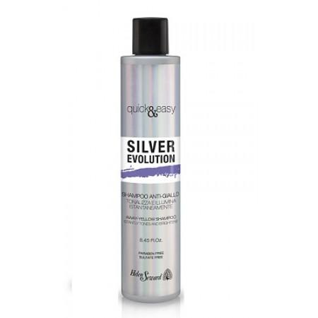 Серебряный шампунь с анти-желтым эффектом Helen Seward Q&E Silver Evolution Объем 250 мл фиолетовый (325)